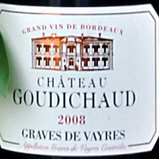 Chateau Goudichaud 2008 Graves de Vayres Rouge 750ml Wine Label