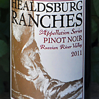 Healdsburg Ranches 2011 Appellation Series Pinot Noir Russian River Valley 750ml Wine Label