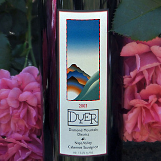 Dyer Vineyard 2003 Cabernet Sauvignon Diamond Mountain 750ml Wine Label