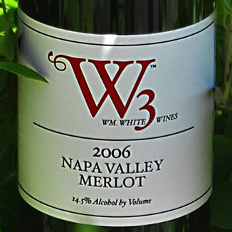 W3 - William White Wines 2006 Napa Valley Merlot 750ml Wine Label