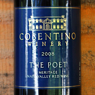 Cosentino Winery 2008 The Poet Meritage Napa Valley 750ml Wine Label