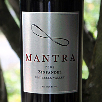 Mantra 2008 Zinfandel 750ml Wine Label