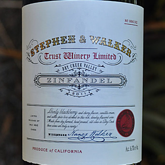 Stephen & Walker 2011 Dry Creek Valley Zinfandel 750ml Wine Label