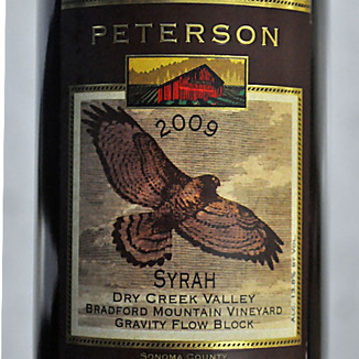Peterson Winery 2009 Bradford Mountain Dry Creek Valley Syrah 750ml Wine Label