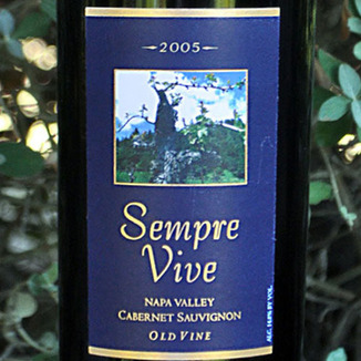Romeo Vineyards 2005 Sempre Vive Napa Old Vine Cabernet Sauvignon 750ml Wine Label