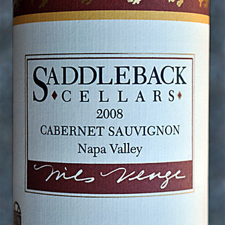 Saddleback Cellars 2008 Napa Valley Cabernet Sauvignon 750ml Wine Label