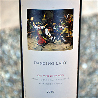 Della Costa Family Vineyards 2010 Dancing Lady Old Vine Zinfandel 750ml Wine Label