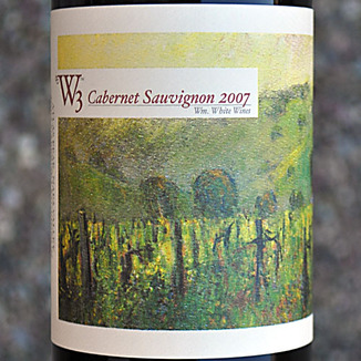 W3 - William White Wines 2007 Cabernet Sauvignon 750ml Wine Label