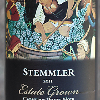 Robert Stemmler Winery 2011 Carneros Estate Grown Pinot Noir 750ml Wine Label