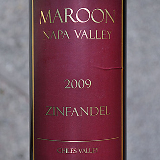 Maroon Wines 2009 Maroon Napa Valley Zinfandel 750ml Wine Label