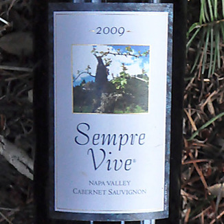 Romeo Vineyards 2009 Sempre Vive Napa Valley Cabernet Sauvignon 750ml Wine Label