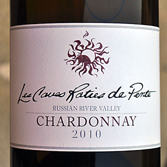 Les Caves Roties de Pente  2010 Russian River Valley Chardonnay 750ml Wine Label