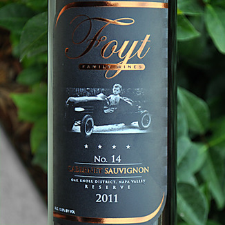 Foyt Family Wines 2011 No. 14 Oak Knoll District Cabernet Sauvignon 750ml Wine Label