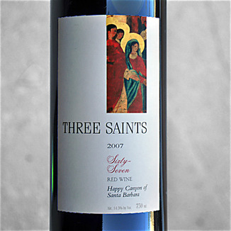 Three Saints Wines 2007 67 Red Blend 750ml Wine Label