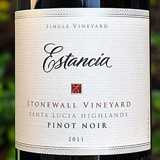 Estancia Estates 2011 Stonewall Vineyard Pinot Noir 750ml Wine Label