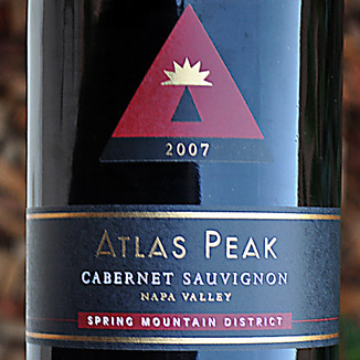 Atlas Peak Wines 2007 Spring Mountain Cabernet Sauvignon 750ml Wine Label
