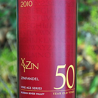 XYZin Wines 2010 Russian River Valley 50 Year Zinfandel 750ml Wine Label