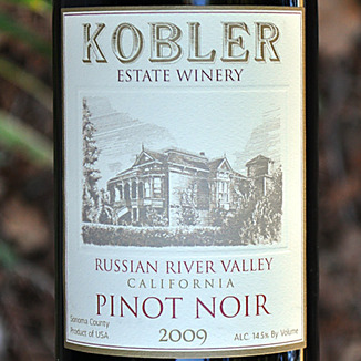 Kobler Winery 2009 Russian River Valley Pinot Noir 750ml Wine Label