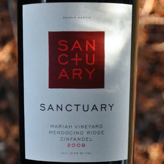 Sanctuary Estates by Fetzer Vineyards 2009 Mariah Vineyard Mendocino Ridge Zinfandel 750ml Wine Label