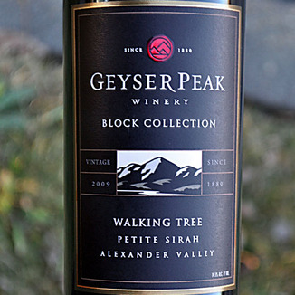 Geyser Peak Winery 2009 Alexander Valley Walking Tree Vineyard Petite Sirah 750ml Wine Label