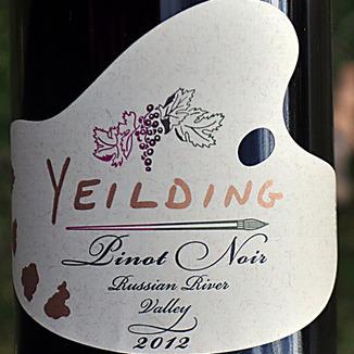 Yeilding Wine 2012 Russian River Valley Pinot Noir 750ml Wine Label