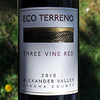 Eco Terreno 2010 Alexander Valley Three Vine Red 750ml Wine Label