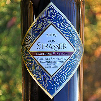 von Strasser Winery 2009 Spaulding Vineyard Cabernet Sauvignon 750ml Wine Label