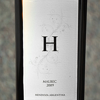 Hinojosa 2009 H Malbec 750ml Wine Label