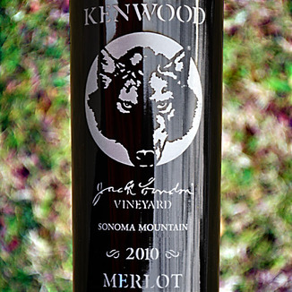 Kenwood Vineyards 2010 Jack London's Vineyard Sonoma Mountain Merlot 750ml Wine Label