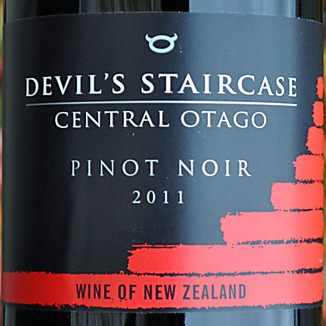 Rockburn Wines 2011 Devil's Staircase Central Otago Pinot Noir 750ml Wine Label
