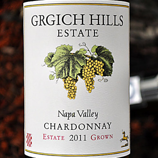 Grgich Hills Estate 2011 Estate Grown Napa Valley Chardonnay 750ml Wine Label