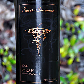 Super Sonoman 2008 Sonoma County Syrah 750ml Wine Label