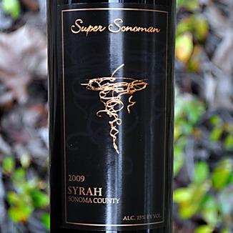 Super Sonoman 2009 Sonoma County Syrah 750ml Wine Label