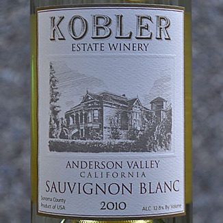 Kobler Winery 2010 Anderson Valley Sauvignon Blanc 750ml Wine Label