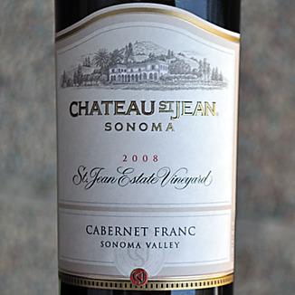 Chateau St. Jean 2008 Sonoma Valley Estate Vineyard Cabernet Franc 750ml Wine Label