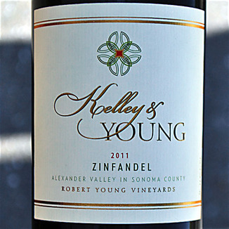 Kelley & Young Wines 2011 Alexander Valley Zinfandel 750ml Wine Label
