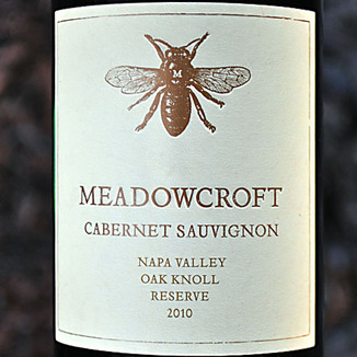 Meadowcroft Wines 2010 Napa Valley Oak Knoll Reserve Cabernet Sauvignon 750ml Wine Label