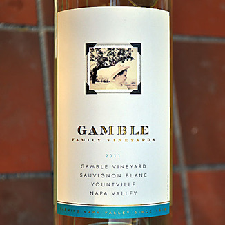 Gamble Family Vineyards 2011 Yountville Sauvignon Blanc 750ml Wine Label