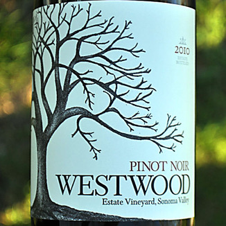 Westwood Winery 2010 Sonoma Valley Estate Vineyard Pinot Noir 750ml Wine Label