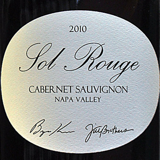 Sol Rouge Vineyard & Winery 2010 Napa Valley Cabernet Sauvignon 750ml Wine Label