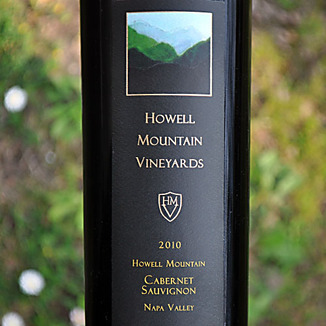 Howell Mountain Vineyards 2010 Howell Mountain Cabernet Sauvignon 750ml Wine Label