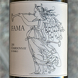 Fama Wines 2011 El Diablo Russian River Valley Chardonnay 750ml Wine Label
