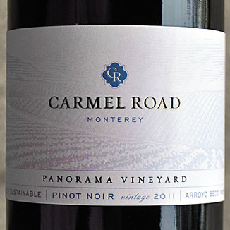Carmel Road 2011 Panorama Vineyard Monterey Pinot Noir 750ml Wine Label