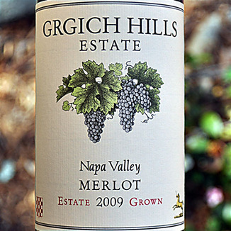 Grgich Hills Estate 2009 Napa Valley Merlot 750ml Wine Label