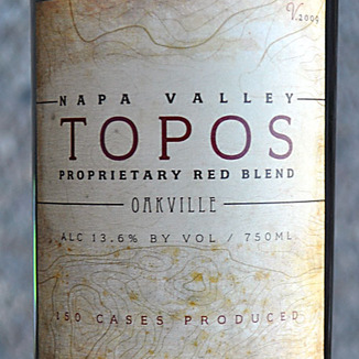 Topos Wines 2009 Napa Valley Proprietary Red Blend 750ml Wine Label