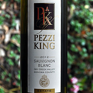 Pezzi King Vineyards 2012 Dry Creek Valley Estate Sauvignon Blanc 750ml Wine Label