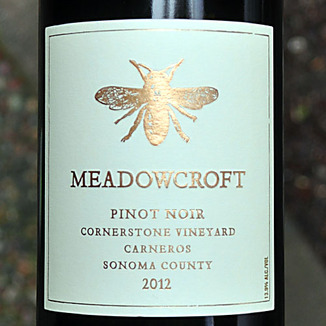 Meadowcroft Wines 2012 Carneros Sonoma County Pinot Noir 750ml Wine Label