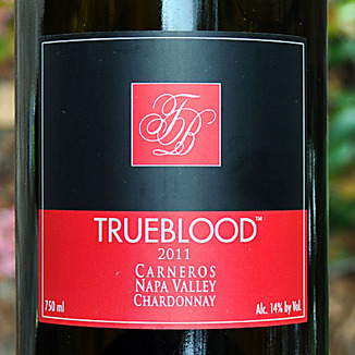 Vampire Vineyards 2011 TRUEBLOOD Carneros Napa Valley Chardonnay 750ml Wine Label