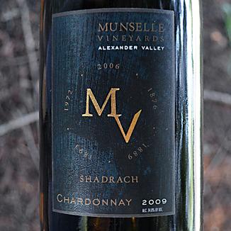 Munselle Vineyards 2009 Alexander Valley Chardonnay 750ml Wine Label