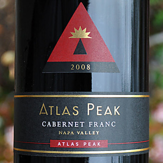 Atlas Peak Wines 2008 Atlas Peak Cabernet Franc 750ml Wine Label